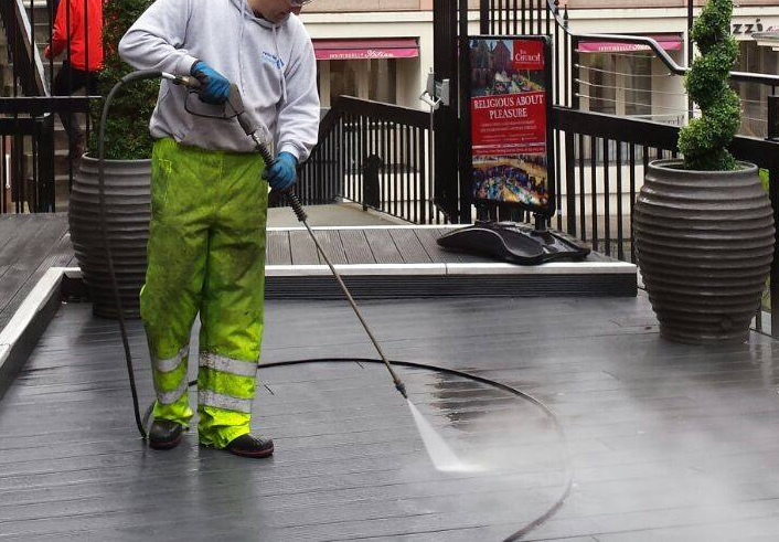 decking cleaning by pristine pathways