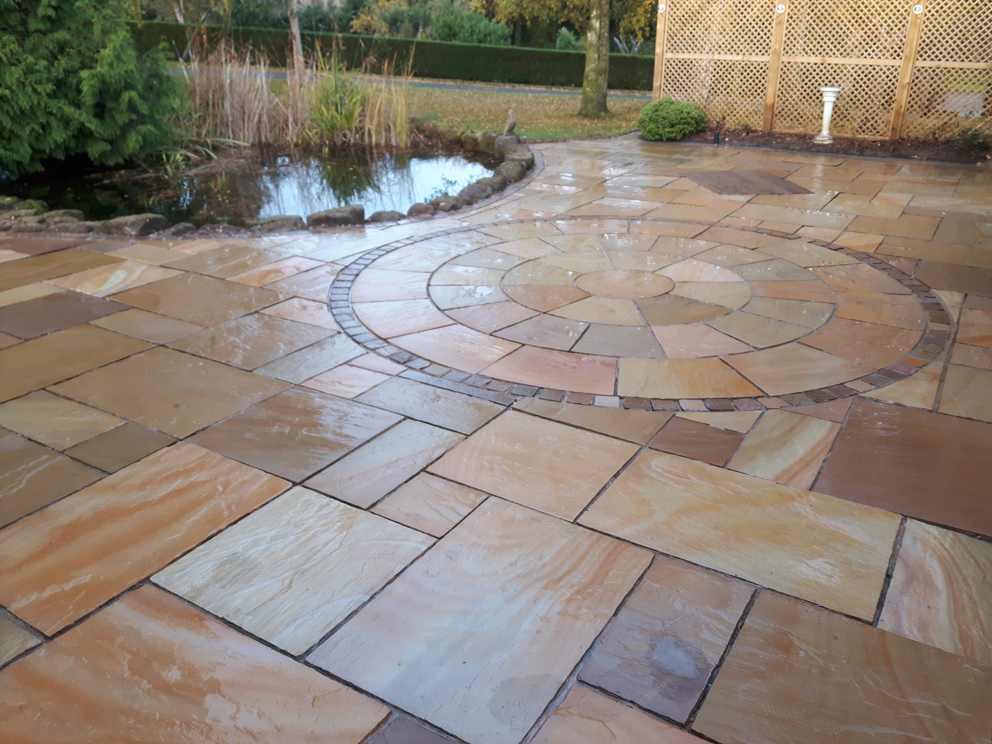 Professionally cleaned Indian stone