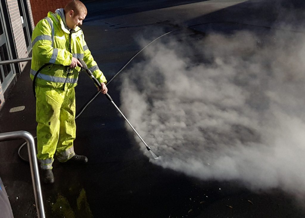 school playground cleaning and chewing gum removal in Liverpool